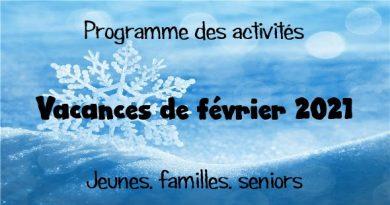 Les programmes des vacances de février sont disponibles
